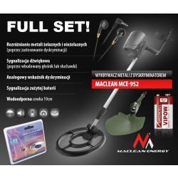 Wykrywacz Metali Maclean MCE952 Full SET Mega Zestaw! Promocja!